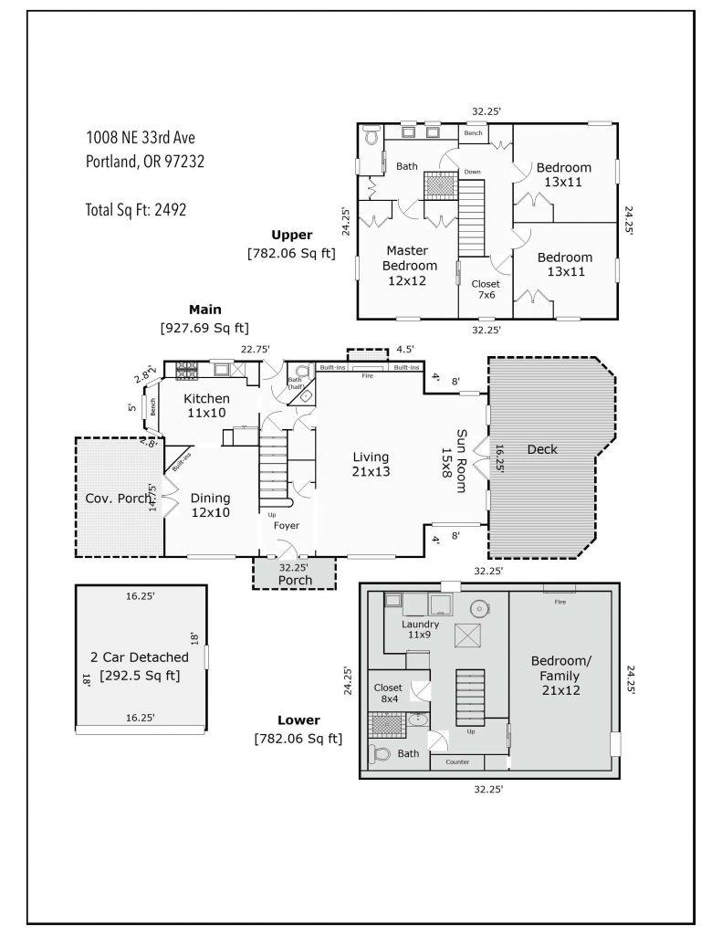 1008 NE 33rd Ave Floor Plan B W w sqft